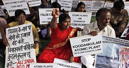 Anti-atomkraftprotest i New Delhi, marts 2012