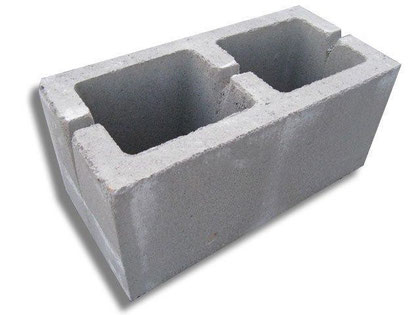 блок 2-ух пустотный 400х200х200 мм