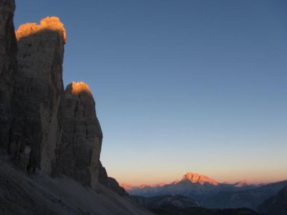Sunrise at Tre Cime.