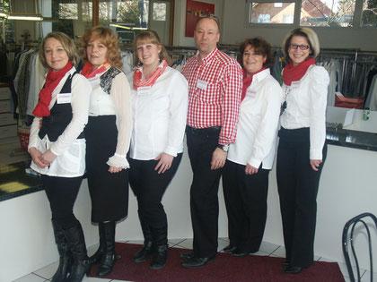 Das komplette Team mit Rita, Larissa, Natalia, René, Silvi, Olga