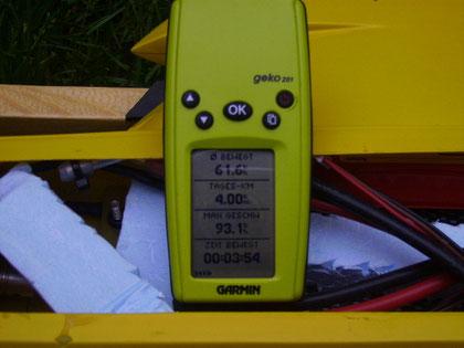 Das Garmin GPS ist immer dabei. Und schnell mal zum Daten sammeln eingebaut.