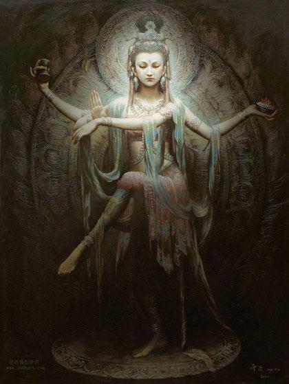 tanzende Guanyin - Göttin des Mitgefühls