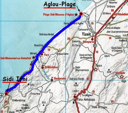 Sidi Ifni - Aglou Plage