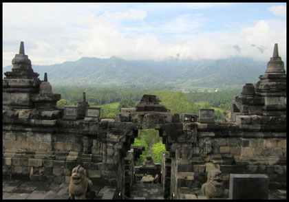 Textiil Borobudur lower level Indonesia