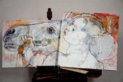 les Chambres de l'Abbaye accueillent l'artiste contemporain Jean-François Comte, à Saint Germer de Fly, dans l'Oise