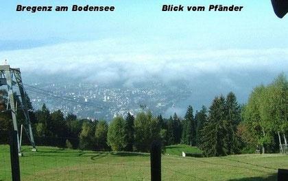 Bregenz: Aussicht vom Pfänder auf die Stadt und den östlichen Bodensee, Foto: Ochsenreither