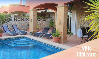 Mallorca, Bahia Grande, Villa Hibiscus, Ferienhaus mit Pool