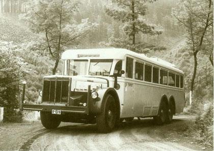 """Büssing-NAG 80 N F Do """"Fichtelberg"""" auf Probefahrt 1934"""