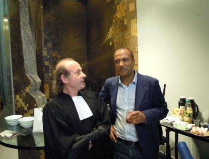 """Philippe Bal Greffier dans le court-métrage """"le mort vivant"""" avec Pascal Légitimus"""