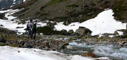 In den höheren Regionen lag anfangs Saison oft noch viel Schnee.