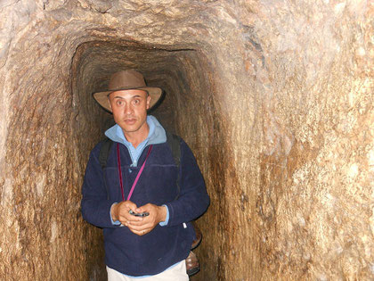 Your humble tour guide in hezekiah's tunnel