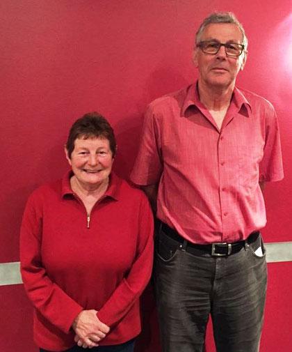 Zwei neue Ehrenmitglieder: Sibylla Meili und Paul Rohrer (Foto: Adrian Oberer)