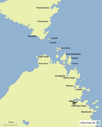 Törngebiet in Sardinien-Korsika