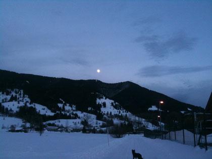 Oberammergau am Abend als wir ankamen.....
