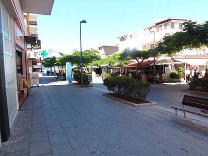 Bild und Link: Fussgängerzone vor dem Haus in Puerto de la Cruz