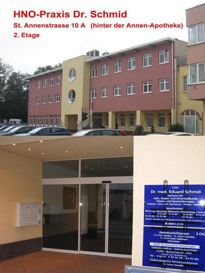 Haupteingangsbereich des Ärztehauses