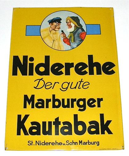 Marburger Kautabak Blechschild