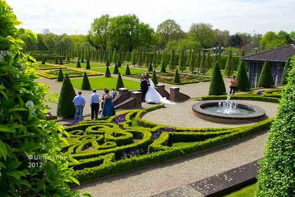 Hochzeits-Shooting im Garten