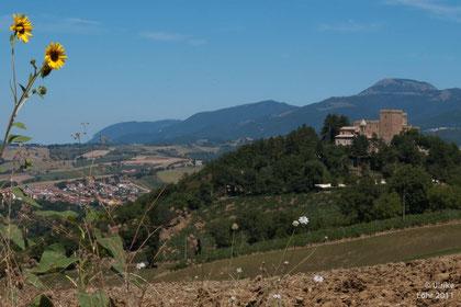 Locanda im Grün unterhalb der Rocca d'Ajello