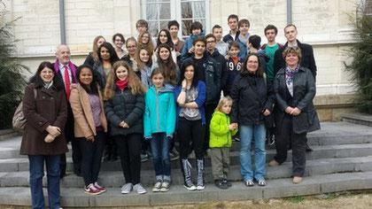 Les jeunes allemands reçus à l'Hôtel de Ville