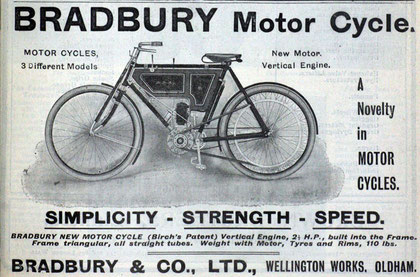 Bradbury New Model Cycle. BIRCH Patent
