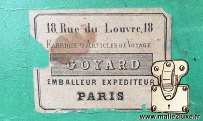 18, Rue du Louvre Fabrique d'Article de Voyage Goyard Emballeur expéditeur  Paris