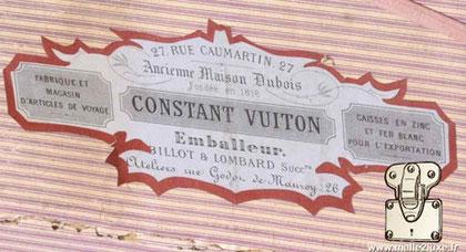 old trunk constant Vuiton 27 rue Caumartin paris