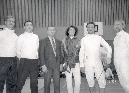 Die OFC Säbelmannschaft wird 1993 fünfter im Deutschlandpokal.