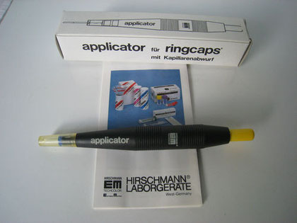 Applikator für Ringcaps Werkzeuge und Zubehör für das chemische Labor