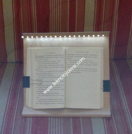 Led ışıklı kitap okuma lambası