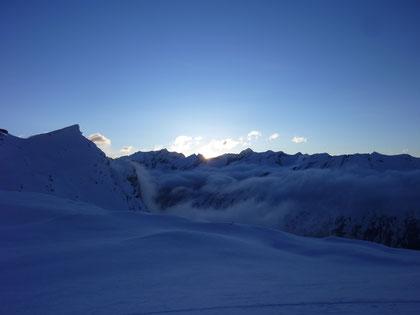Skitour, Skihochtour, Wallis, Schweiz, Strahlhorn, Britanniahütte