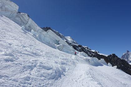 Abfahrt, Schwarztor, Schwärzegletscher, Skihochtour, Zermatt, Cornerschlucht, Nordend, Skitour