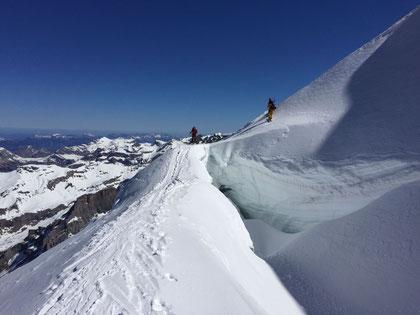 doldenhorn, Skitour, Skihochtour, Kandersteg, Tagestour, Gletscher, Spalte, Gletscherbrücke