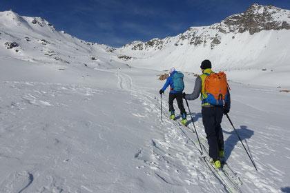 Skitour, Bivio, Julierpass, Graubünden, Schweiz, Piz Surparé