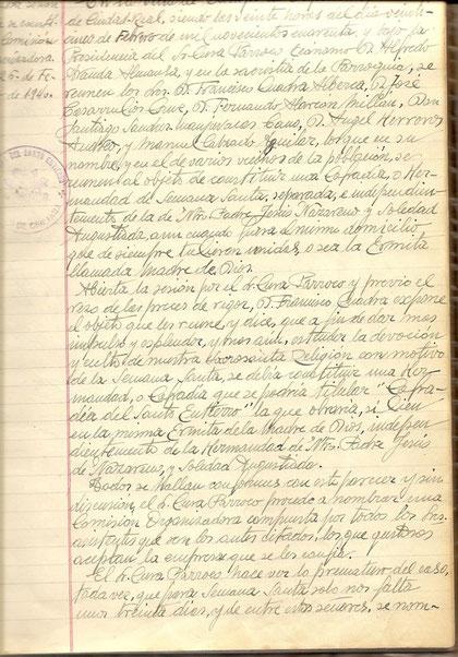 Acta de constitución de la cofradía