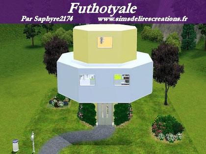 simsdelirescreations Sims sims3 Futhotyale maison creation saphyre2174