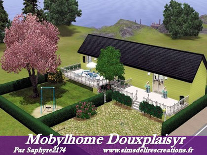 Simsdelirescreations Sims sims3 Mobylhome douxplaisyr maison creation saphyre2174