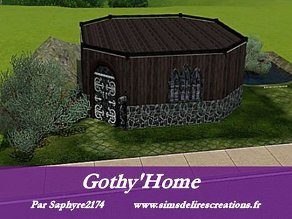 Simsdelirescreations sims sims3 Gothy'home maison creation saphyre2174
