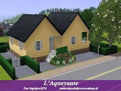 simsdelirescreations Sims sims3  moderne villa l'Aqueyante creation saphyre2174