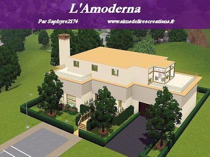 simsdelirescreations Sims sims3  moderne l'amoderna maison creation saphyre2174