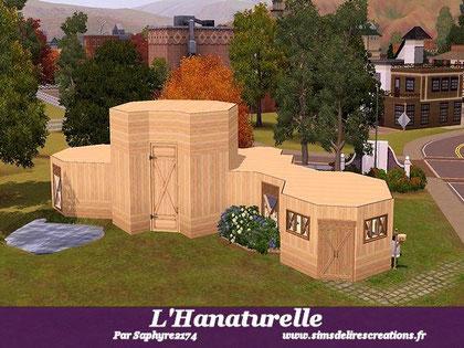 Simsdelirescreations Sims sims3 L'Hanaturelle maison creation saphyre2174