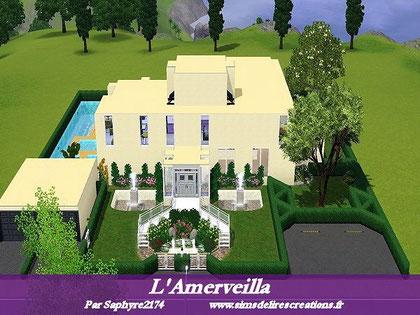 simsdelirescreations Sims sims3  moderne amerveilla maison creation saphyre2174