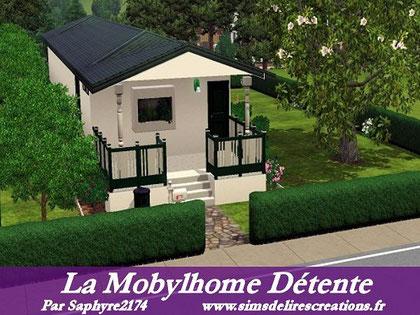 Simsdelirescreations Sims sims3 mobylhome détente maison creation saphyre2174