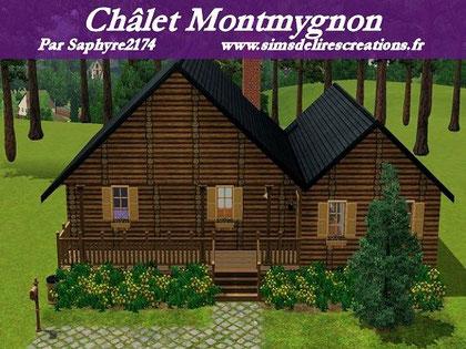 Simsdelirescreations Sims sims3 châlet montmygnon maison creation saphyre2174