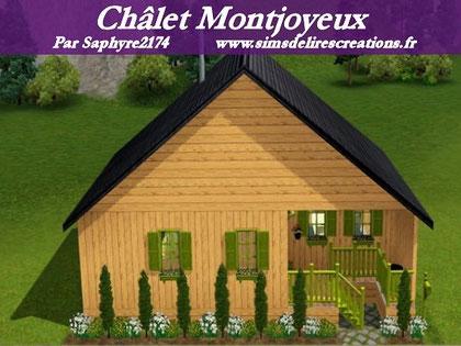 Simsdelirescreations Sims sims3 châlet montjoyeux maison creation saphyre2174