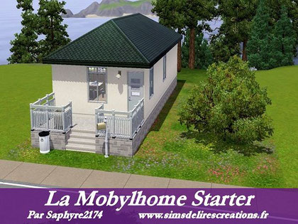 Simsdelirescreations Sims sims3 mobylhome starter maison creation saphyre2174