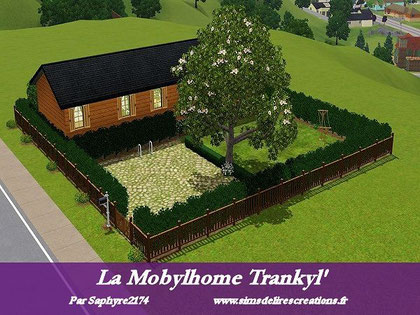 Simsdelirescreations Sims sims3 mobylhome trankyl' maison creation saphyre2174