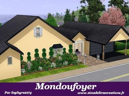simsdelirescreations Sims sims3  moderne Mondoufoyer maison creation saphyre2174
