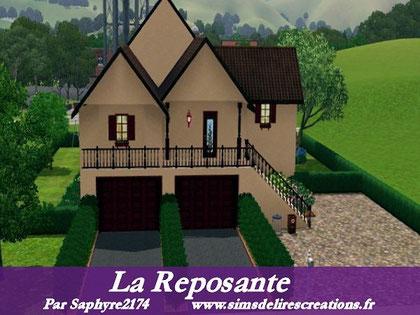 simsdelirescreations Sims sims3  moderne la reposante maison creation saphyre2174