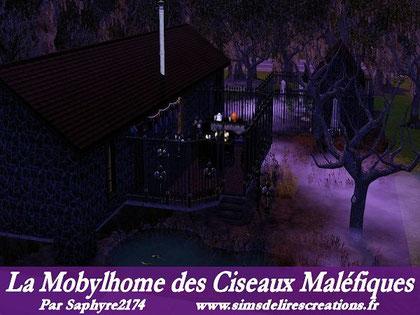 Simsdelirescreations Sims sims3 mobylhome ciseaux maléfiques maison creation saphyre2174